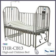 Stainless-Steel High Rail Children Bed (THR-CB13)