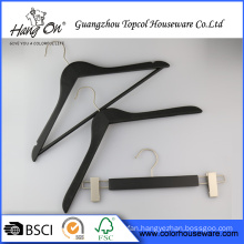 Black wooden hangers luxury for clothes