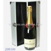 caja de aluminio vino de alta calidad para botella individual de fábrica de China