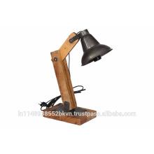 Lampe de table en bois en noir