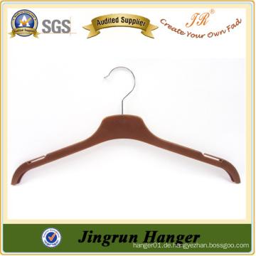 Brown-Farben-Plastik-T-Shirt Aufhänger