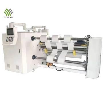 High speed slitting rewinding machine for adhesive tape