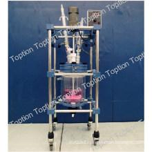 2015 best quality new lab three layer glass reactor