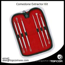 Hot 5PCS Blackhead Pimple Blemish Comedone Acne Extractor Remover Tool Kit Set