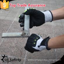 SRSAFETY 2016 high quality safety black Nitrile coating TPR Cut Resistant Gloves