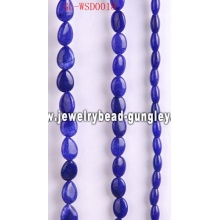 Custom cut natural stone bead with dyed color