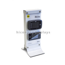Customized Phone Store Counter Top Security Metal Double Sided 4 Mobile Phones Advertising Display Stand