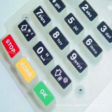 Modifique el telclado numérico para requisitos particulares plástico del corte del laser del silicón de goma
