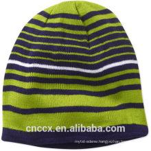 15STC4007 striped cashmere beanie hat