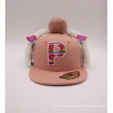 Fashion Lovely Children Style Knittingwool and Cotton Winter Hat (ACEK0044)