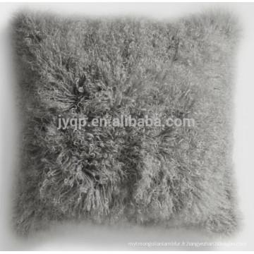 jolie housse de coussin en tissu peau de mouton tibet