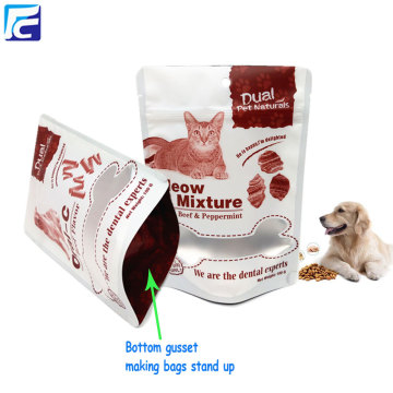 Dog treat pet food packaging pouch with window