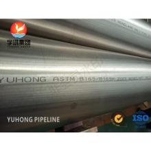 ASME SB163 Tubería SMLS Monel 400 de acero de aleación de níquel