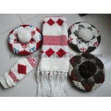 Customized Winter Knitted Acrylic Warm Set