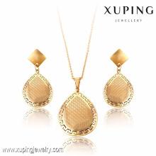 63793-Xuping Boucles d'oreilles pendantes 2 pièces ensembles de bijoux en acier inoxydable