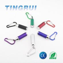 Batterie à bouton en gros cellule colorée mini led lampe de poche led keychain led lampe de poche