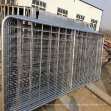 paneles galvanizados sumergidos calientes pesados calientes del caballo del caballo / puerta de la cerca de la granja del campo del ganado del metal para las ovejas o el caballo