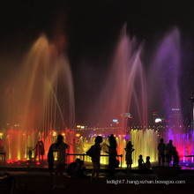 outdoor water fountains with led lights