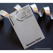 Tarjeta de visita transparente, estampado en caliente tarjeta de visita transparente, impresión en relieve PVC transparente