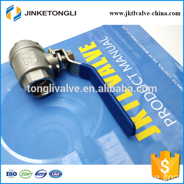 JKTL2B025 cast iron 2 piece spring return inline ball valve