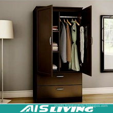 2 Door Steel Bedroom Wardrobe Cabinet with Inside Drawer Design (AIS-W457)