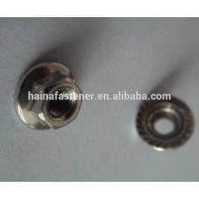 Tuerca de brida hexagonal de acero inoxidable DIN6923