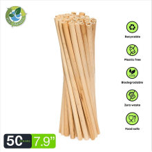 Wholesale Eco-Friendly Biodegradable Disposable 100% Nature Drinking Straw Wheat Straw Reed Straws