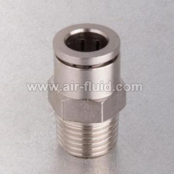 Push подключение Фитинг прямой мужской адаптер из никелированной латуни
