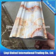 Pvc mármol artificial zócalo moldeado decoración de interiores