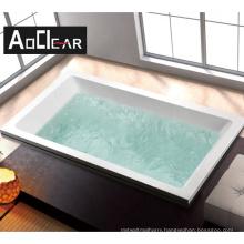 Aokeliya cheap price big size bathroom acrylic drop in recessed embedded bathtub