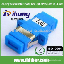 Atenuador de tipo fijo SC / UPC monomodo Optical Bulkhead-type 7db
