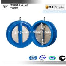 Grey ferro mola carregado dupla placa dn 40-400 wafer borboleta válvula de retenção