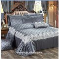 luxury wedding quilted bedspreads set with lace,high quality