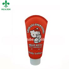 Embalagem plástica cosmética vermelha do tubo de Hello Kitty 100ml