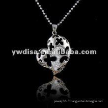Collier pendentif en acier inoxydable, collier couple en forme de bear