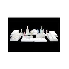 Exhibición blanca del soporte de exhibición de la joyería de la PU de MDF al por mayor (WS-TR)