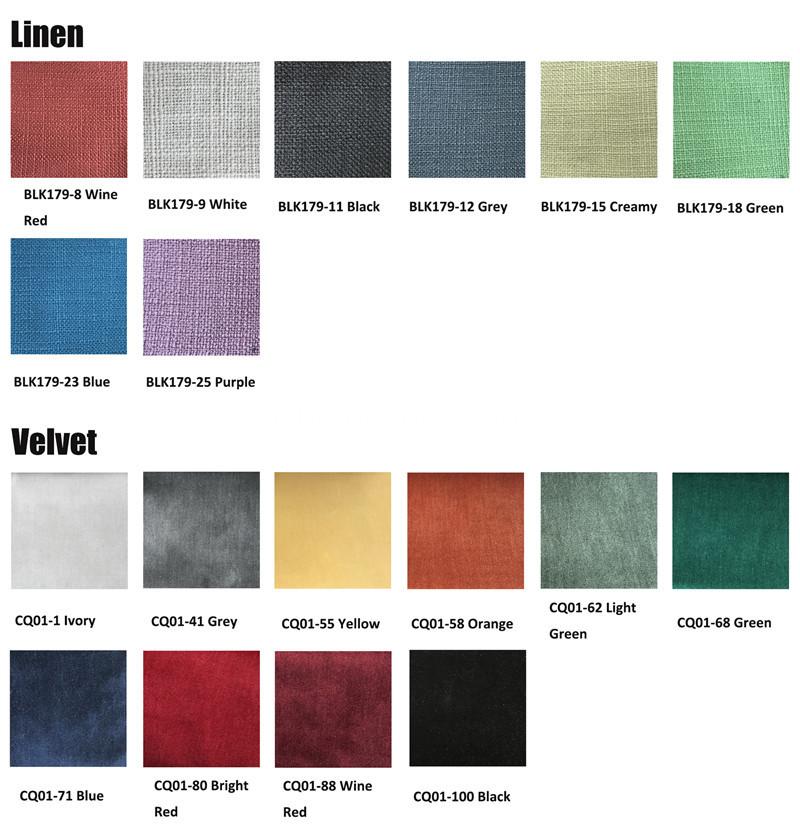 Fabric Linen Velvet