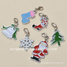 christmas alloy painted floating charms