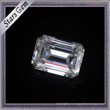 10X14mm émeraude coupé pour toujours une coupe brillante Moissanite pour les bijoux de mode