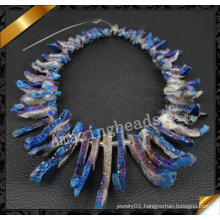 Top Drilled Agate Beads, Druzy Quartz Necklace Chip Beads (YAD018)