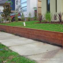 distressed Anti-slip merbau hardwood garden decking brown color