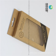 Custom Promotion Kraft Paper Printing Mobile Phone Case Packaging Box