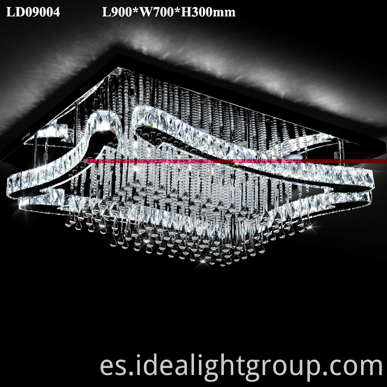 led crystal ceiling lamps