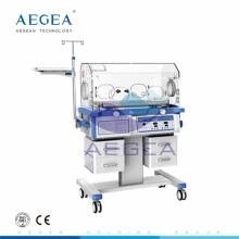Premature hospital used movable medical infant incubator