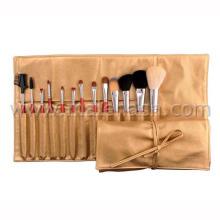 Cepillo cosmético del cepillo del maquillaje del cojín de cobre 13PCS con el bolso cosmético