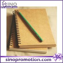 Cheap Hardcover Diary Kraft Paper Blank Notebook