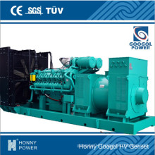 11100kw/1375kVA 50Hz 1000rpm Middle Speed Generator (HGM1500)