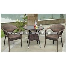 Gartenmöbel 3 Stück Patio Wicker Dining Set