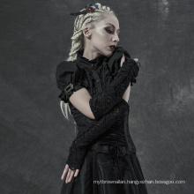 PUNK RAVE WS-406SSF lady girl sexy plus size women gorgeous lace kintted daily lace club gothic glove sleeves