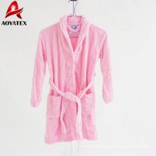 factory produce 100% polyester high quality flannel fleece bathrobe for Children